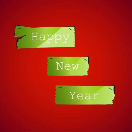 Happy New Year Ripped paper background Vector