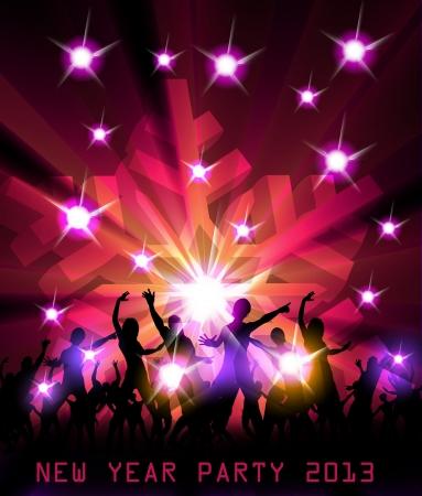New Year Party Ontwerp Illustratie Stock Illustratie