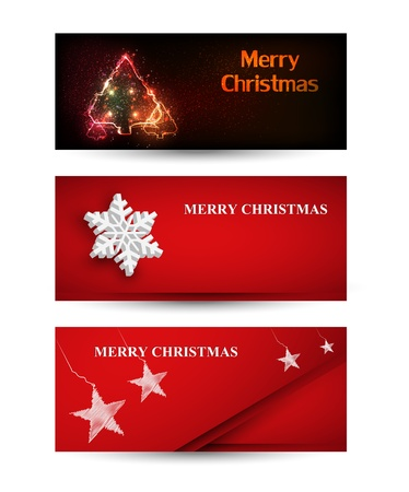 Set of Christmas banner Stock Vector - 16800750