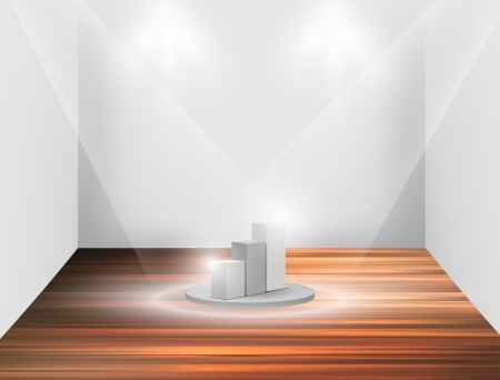 Isolated Empty white podium  Stock Vector - 17180390