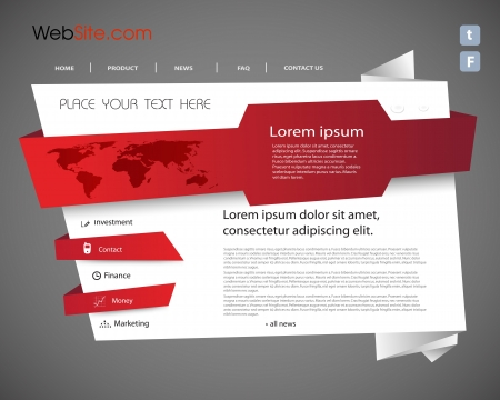 Origami Website template, easy editable