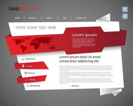 Origami Website template, makkelijk bewerkbare