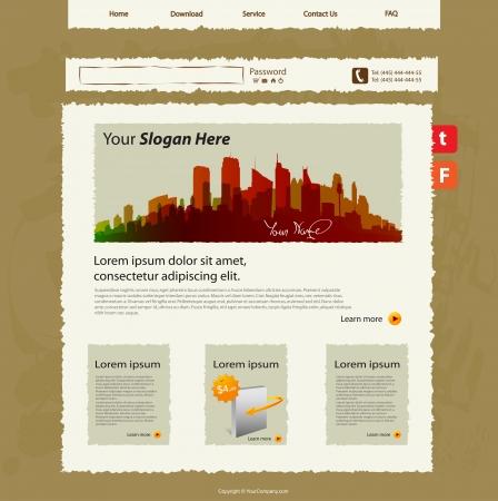 web site template, hand sketch design Stock Vector - 17180395