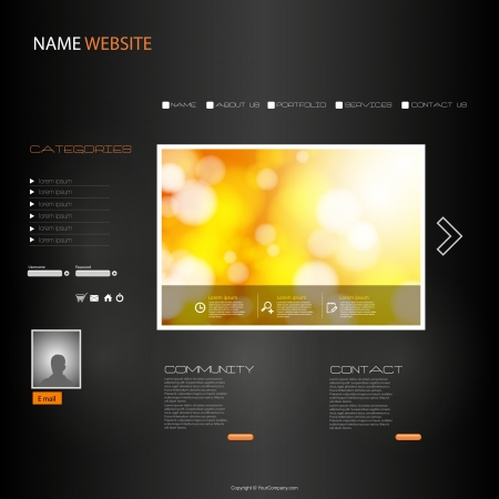 EPS10 Website Template Stock Vector - 17898415