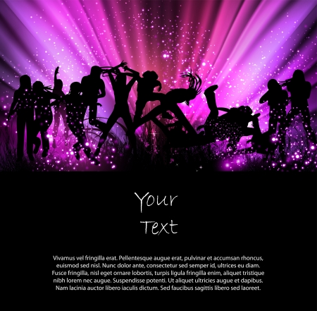 party: Party Color background illustration Illustration