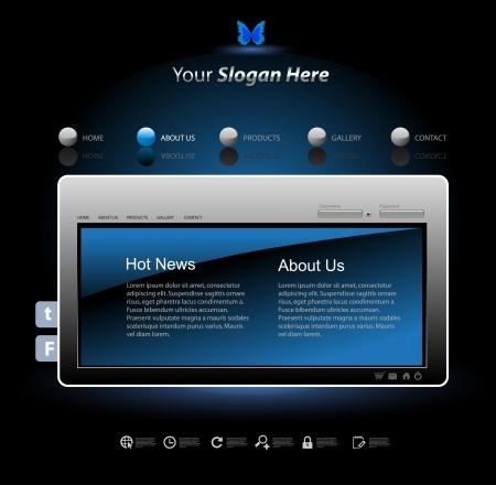 Web site design modern template Stock Vector - 17898407