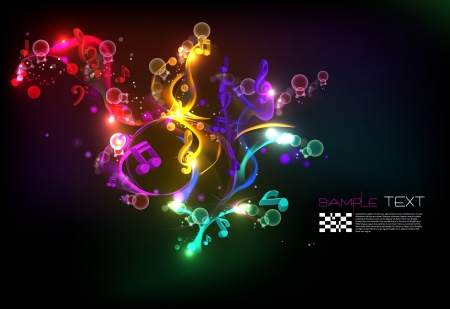 Music Magical Melody Background Vector