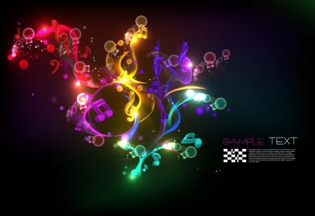 Muziek Magical Melody Achtergrond Stock Illustratie