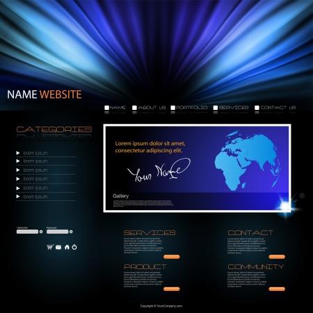 colorful slide: vector Website modern Design Template