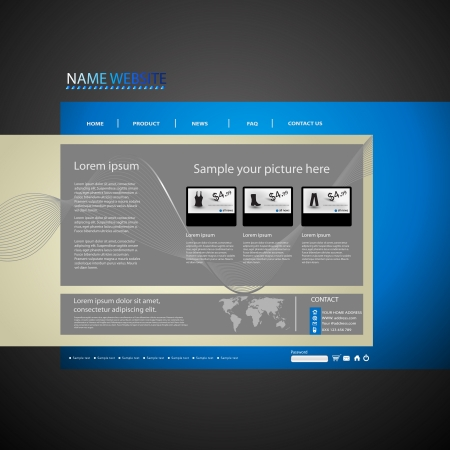 Web site design template, easy editable Stock Vector - 17900764