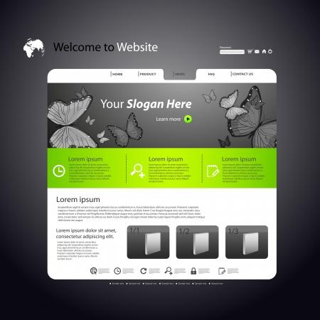 Web site design template Stock Vector - 17899962