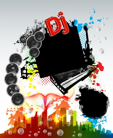Template music grunge party Stock Vector - 18531535