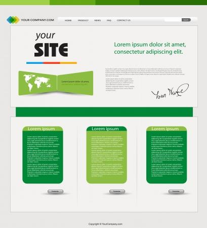 Website green template Stock Vector - 18531515