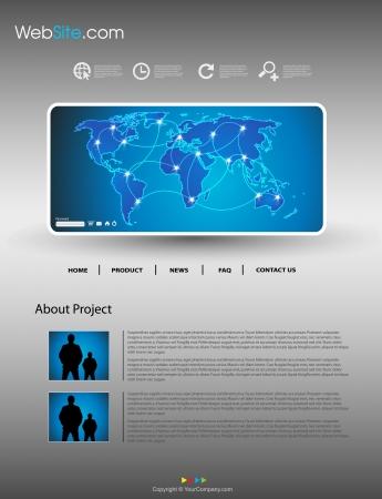 Website modern template  Stock Vector - 18531516