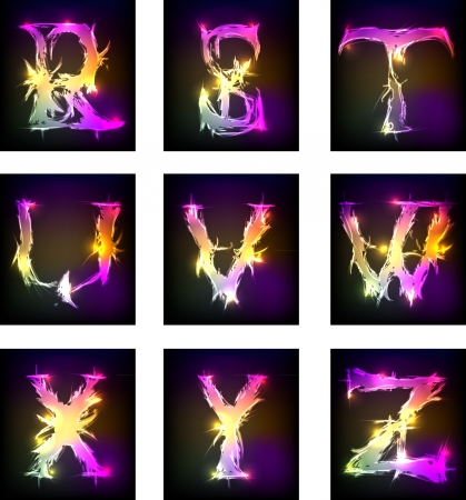 alphabet light design   Vector