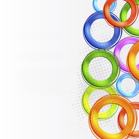 Abstract colorful circle design