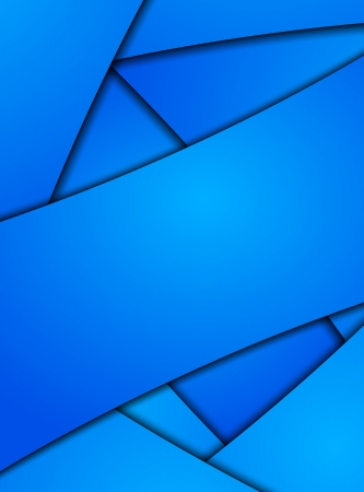 Vector blue card or background with shadow Stock Vector - 20204076