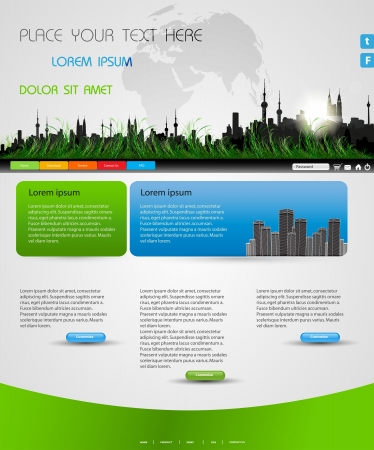 web page city design for business  Stock Vector - 20204064