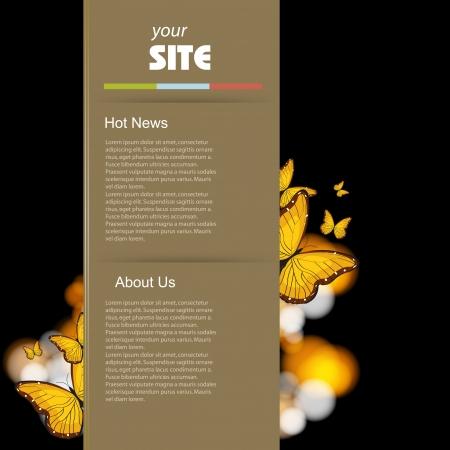 Website retro template, vector design  Vector