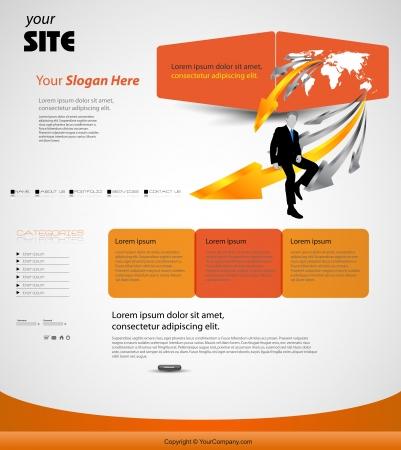 website template Stock Vector - 20204050