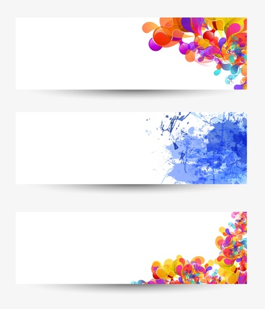 Paper set background Vector