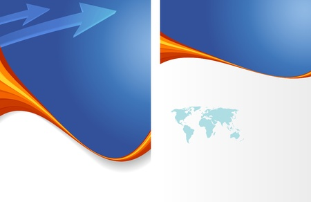 presentation folder: vector business marketing brochure, poster template