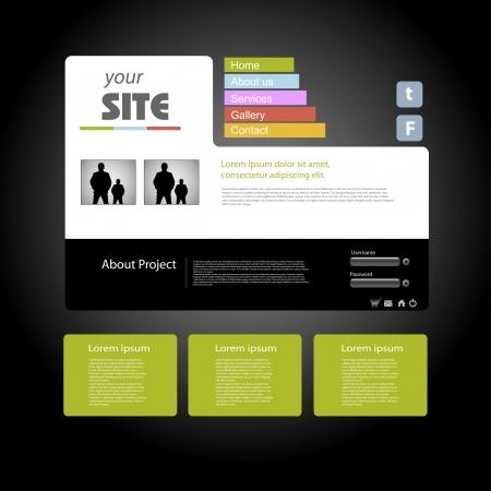web site: Web site design template