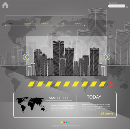web template city vector, more visit my portfolio Stock Vector - 20203928