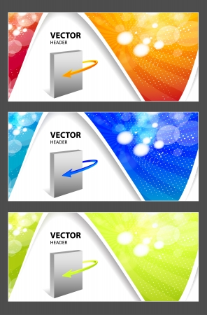 software box: website headers for your products  Illustration