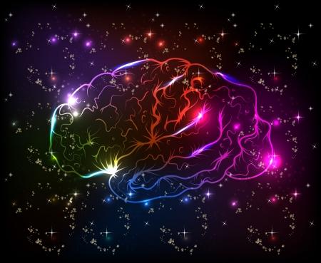 뇌는 추상 배경을 나뭇잎있다