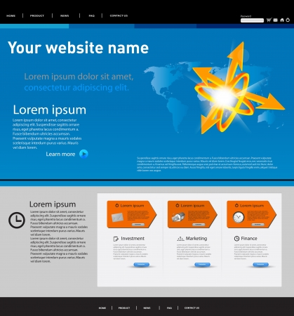 creative web site template with arrow Vector