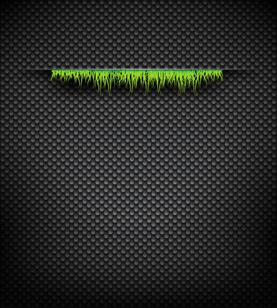 Vector abstract nature background with grass Vector