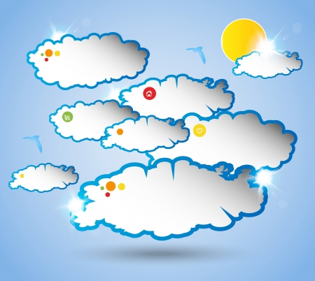 Abstract web design sky bubble Vector