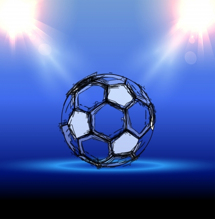 football grunge poster with a ball Stock Vector - 20950982