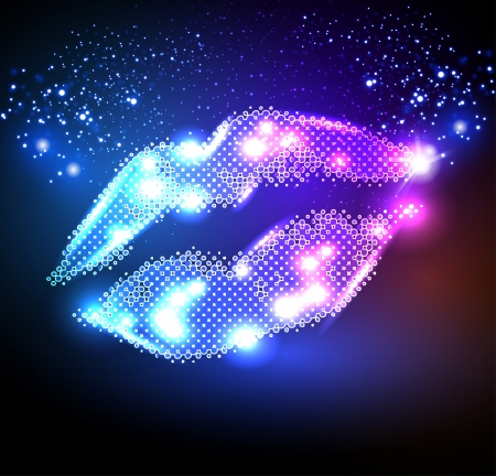 lips for your poster Vector