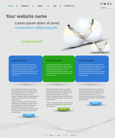 web design template, easy editable Vector