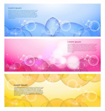 website layout: abstract modern website banner, set vector design