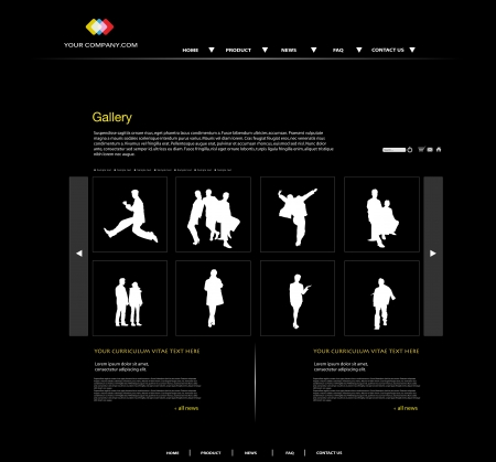 webtemplate: personal portfolio website with business people Illustration