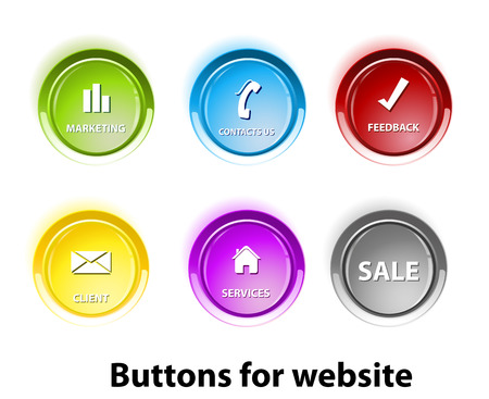 Button tags, for your text, easy color editable  Stock Vector - 22390100