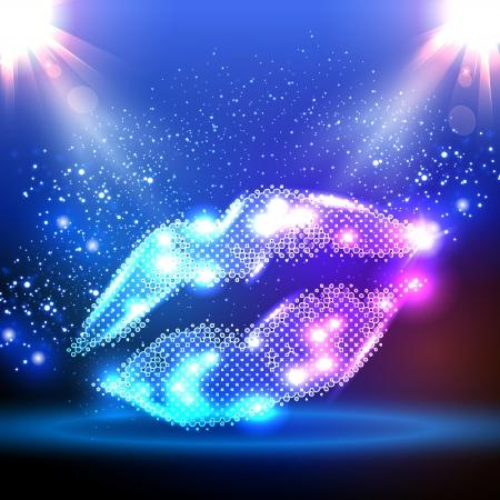 Party kleur illustratie met lippen