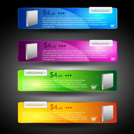 product banner in different colors  Stock Vector - 22390112