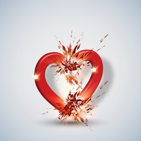 hearth: Vector abstract hearth background Illustration