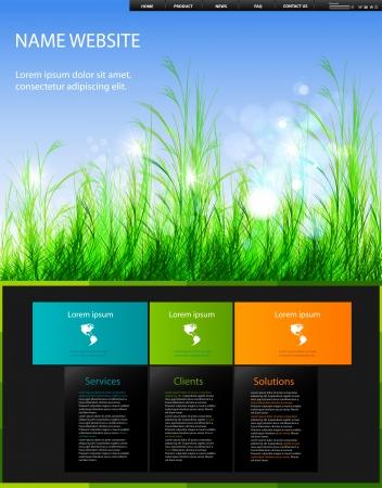 modern web design template, easy editable Vector