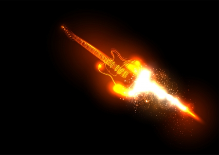 composing: Music background with guitar