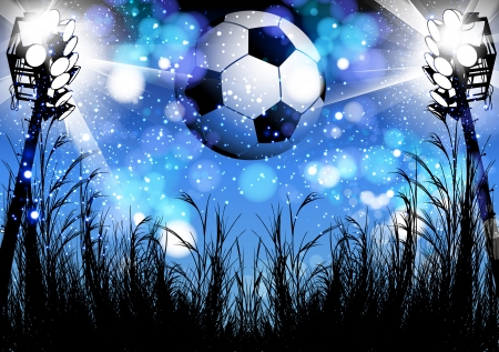 football poster design Vector
