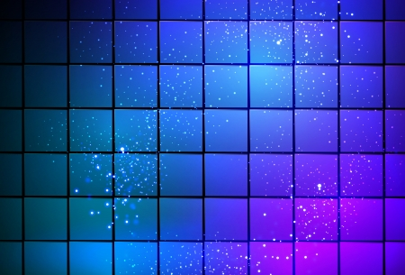 composing: neon light cube background