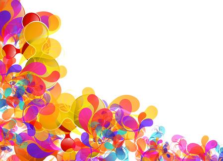 radost: Abstraktní barevný design, snadno upravitelné
