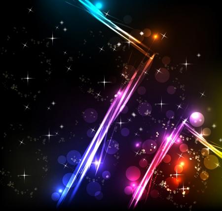Rainbow Lines Background with neon light, more visit my portfolio Vector