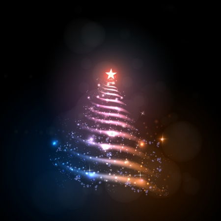 Abstract christmas tree, easy all editable Vector