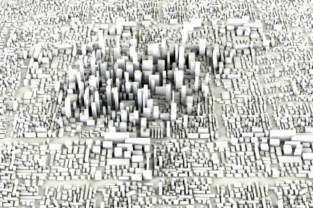 Modern City Concept Standard-Bild